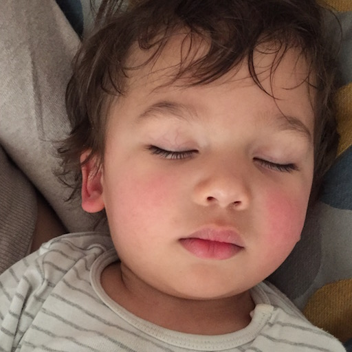 The content image, my toddler sleeping